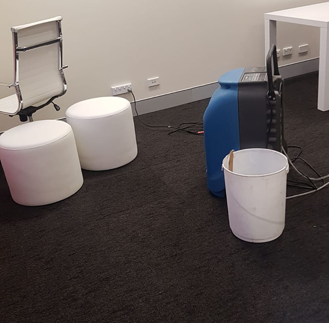 carpet water damage repairs and drying in Sydney
