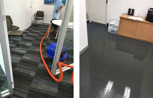 flooded commercial carpet repairs Sydney 2018
