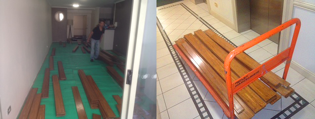 removing wet, water damaged timber, wet timber flooring